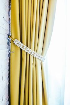 Rideaux décoration fond classique légère