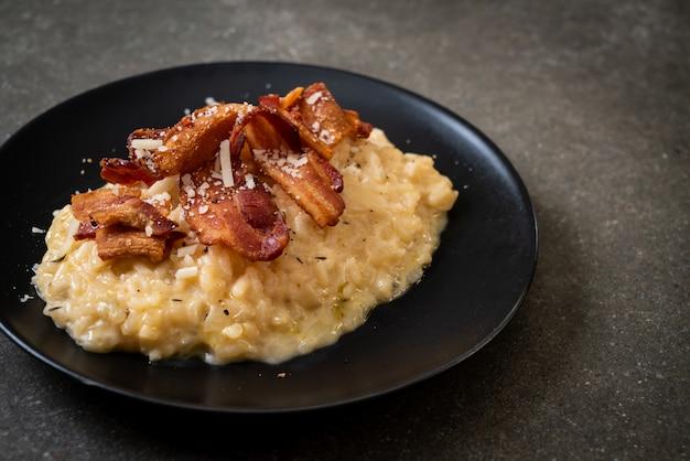 Risotto au bacon croustillant