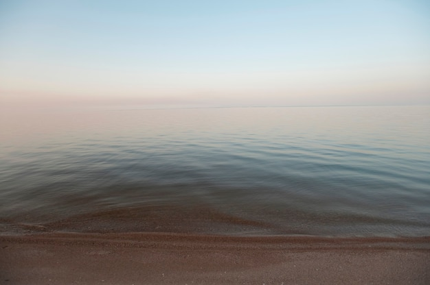 Rivage du lac winnipeg à gimli, manitoba, canada