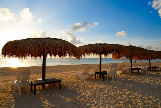 Riviera maya sunrise beach au mexique