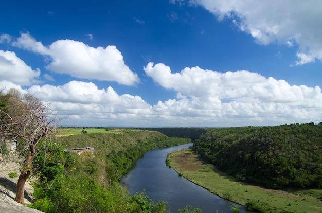 Rivière chavon en république dominicaine