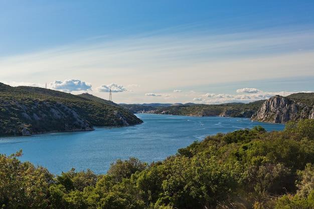 Rivière krka, croatie. prise de vue horizontale