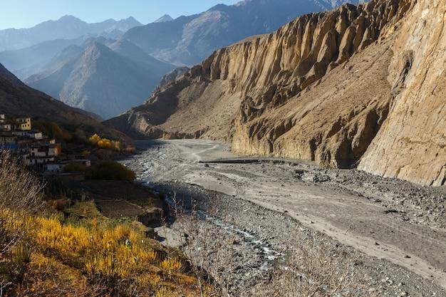Rivière panda khola, village de lupra