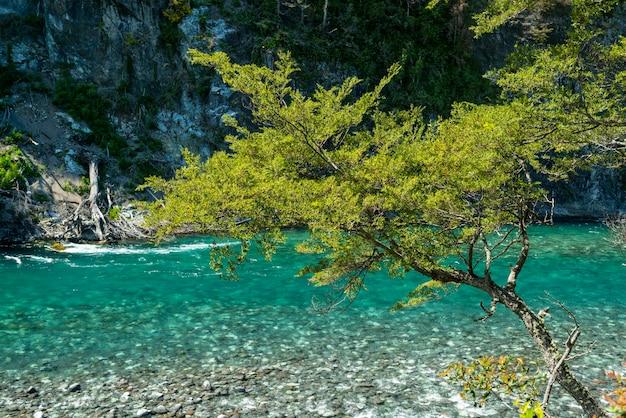 La rivière petrohue puerto varas province de llanquihue los lagos chili patagonie chilienne