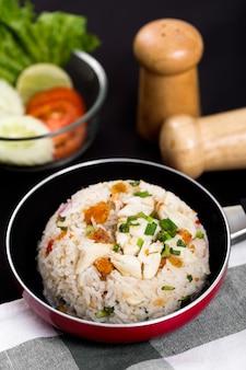 Riz cuit au poulet