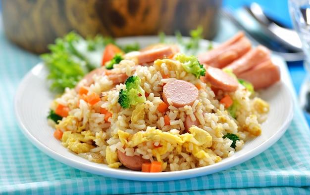 Riz frit macro style thaï