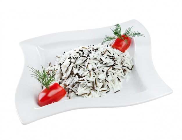 Riz sauvage bouilli (gohan)
