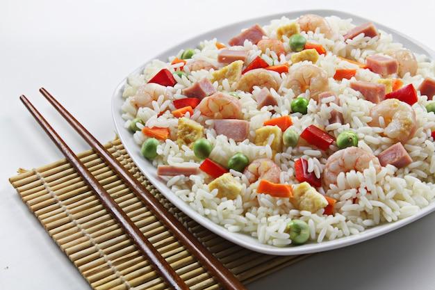 Riz trois délices à la chinoise
