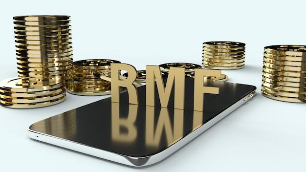 Rmf sur mobile et or coons, rendu 3d.