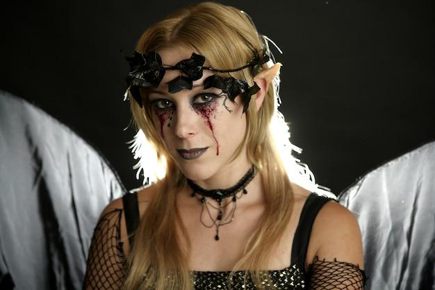 Robe de femme pour halloween, ange noir