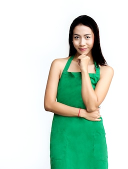 Robe de tablier de service de travail de femme d'affaires