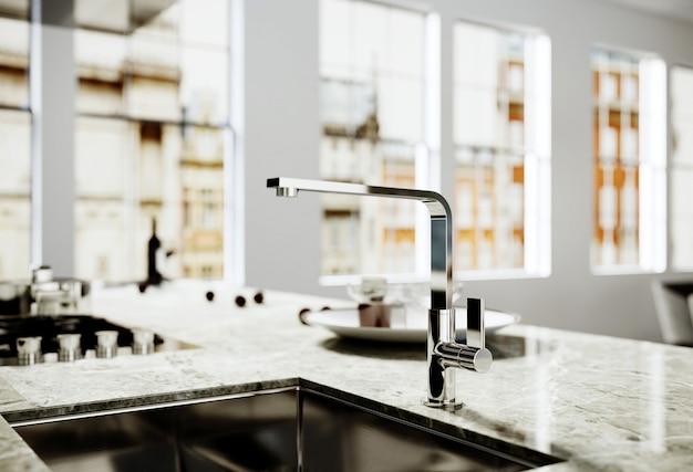 Robinet d'eau dans la cuisine