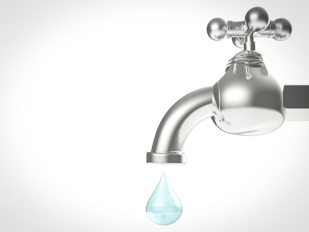 Robinet d'eau avec goutte d'eau