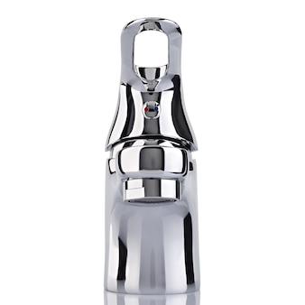 Le robinet d'eau, robinet pour la salle de bain et le mélangeur de cuisine, isolé sur un blanc. métal chromé.