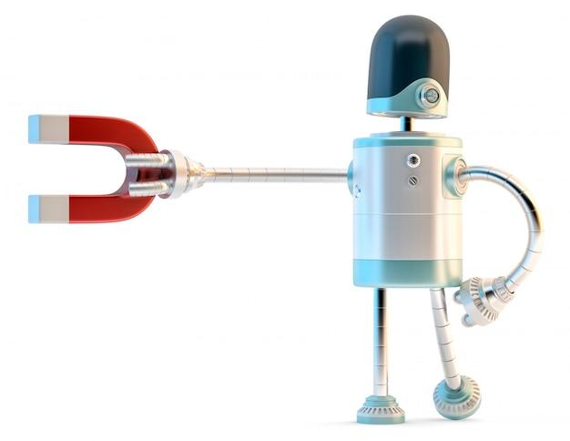 Robot avec aimant.