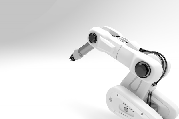 Robot bras blanc 3d