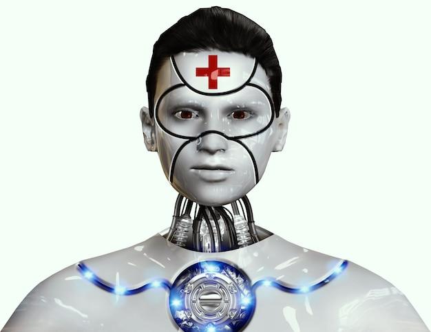 Robot conçu pour les soins médicaux avec intelligence artificielle avancée