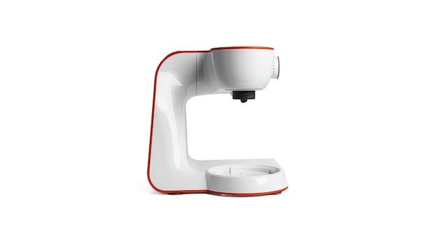 Robot culinaire isolé sur une surface blanche