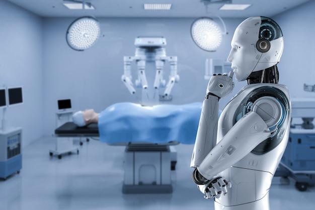 Robot dans la salle d'opération