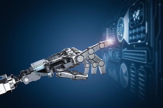 Robot de rendu 3d fonctionnant avec hud ou affichage graphique