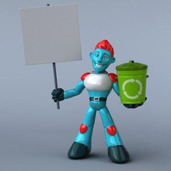 Robot rouge - personnage 3d