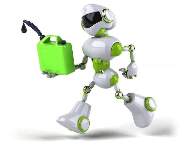 Robot vert - illustration 3d
