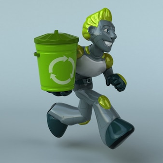 Robot vert - personnage 3d