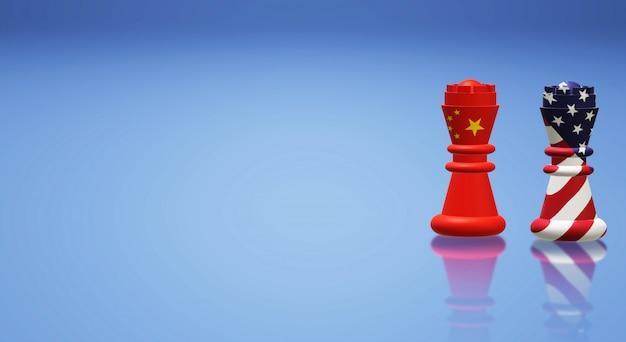 Roi d'échecs chine vs roi d'échecs amérique