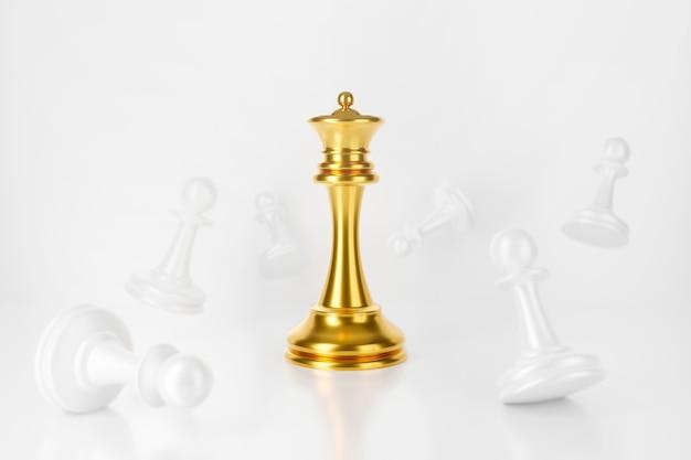 Le roi des échecs gagne avec des pions.