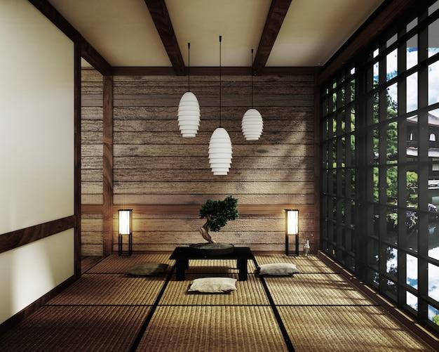 Room japan style - maquette de design d'intérieur. rendu 3d