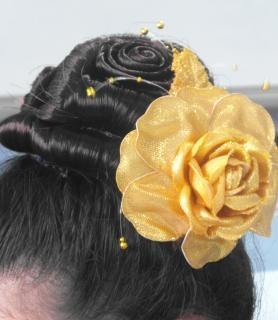 Rose coiffure
