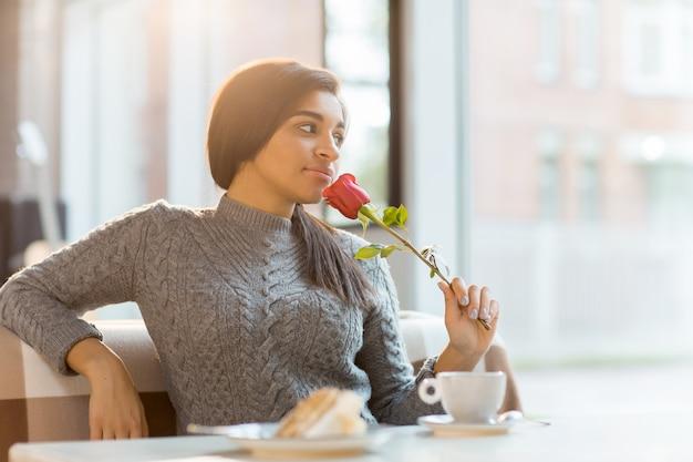 Rose et dessert