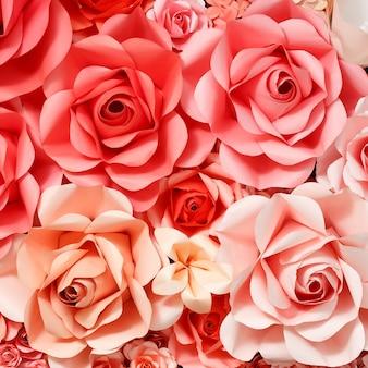 Rose fond de papier