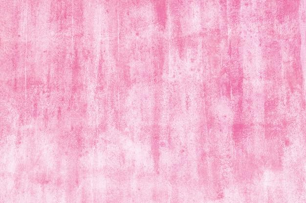 Rose peint sur fond de mur. texture photo en béton peint.