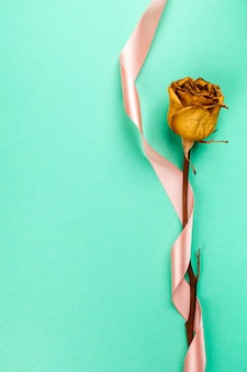 Rose séchée unique