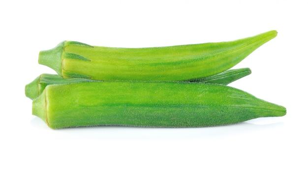Roselle verte sur blanc