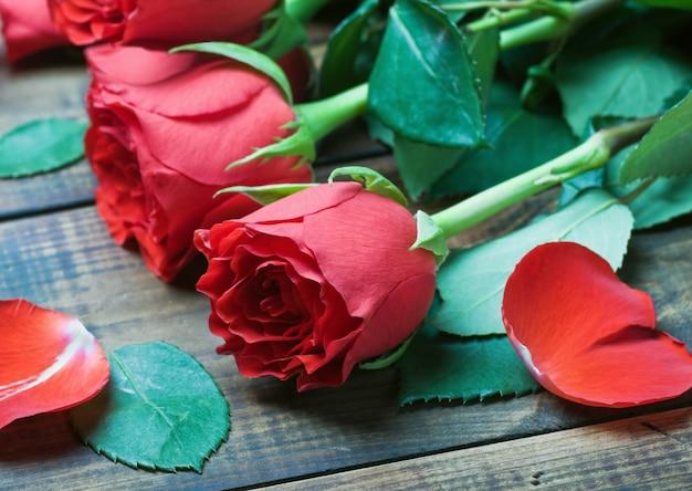 Roses rouges de saint valentin