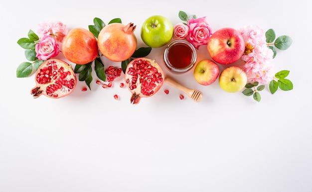 Rosh Hashanah (fête Du Nouvel An Juif), Concept De Symboles Traditionnels Ou Religieux Photo Premium