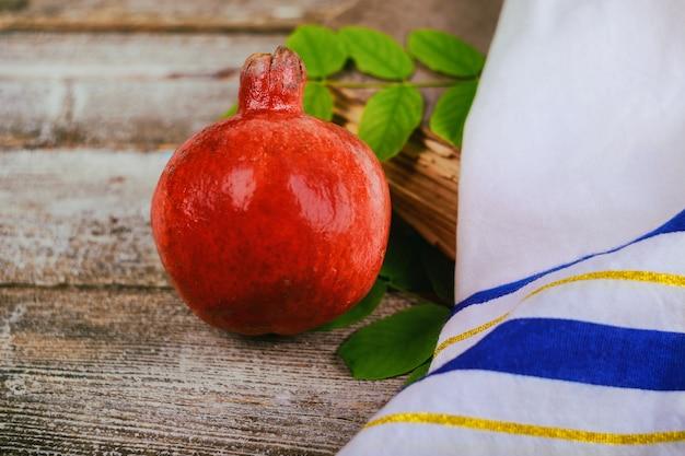 Rosh hashanah symboles de vacances de grenade