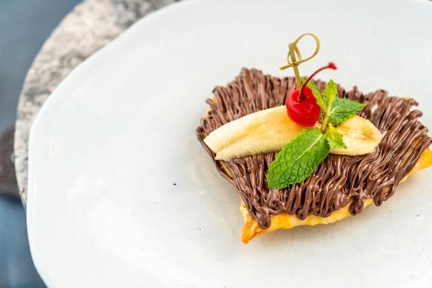 Roti au chocolat et banane