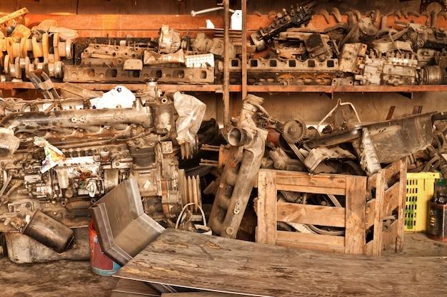 Rotors en aluminium écrasé pile recyclage