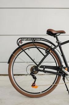 Roue arrière de vélo vintage gros plan