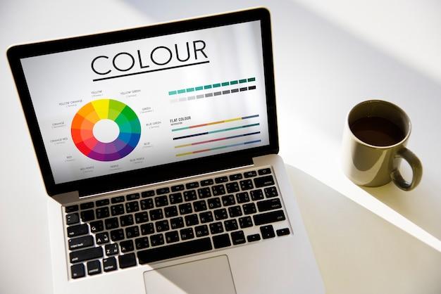 Roue chromatique couleurs primaires brillance pantone