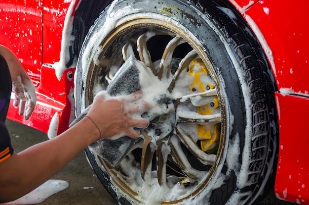 Roue de mousse de lavage de voiture