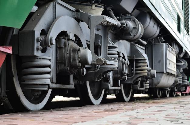 Roues d'une locomotive moderne russe