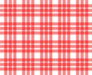 Rouge et blanc motif carrés nappe