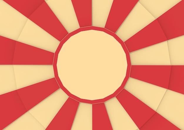 Rouge et vanille couleur de cirque dans le fond de style sunburst.