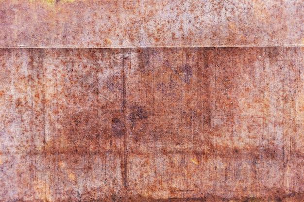 Rouille sur plaque d'acier. texture en métal rouillé pour la décoration et industrielle. concept de construction.