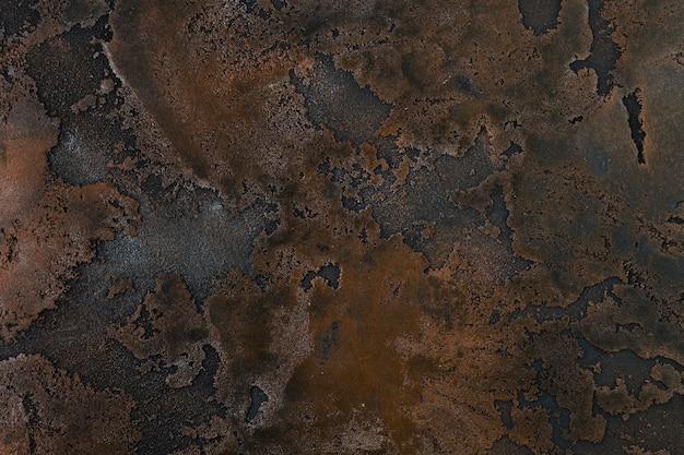 Rouille sur une surface métallique grossière