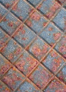 Rouillé surface métallique métallique